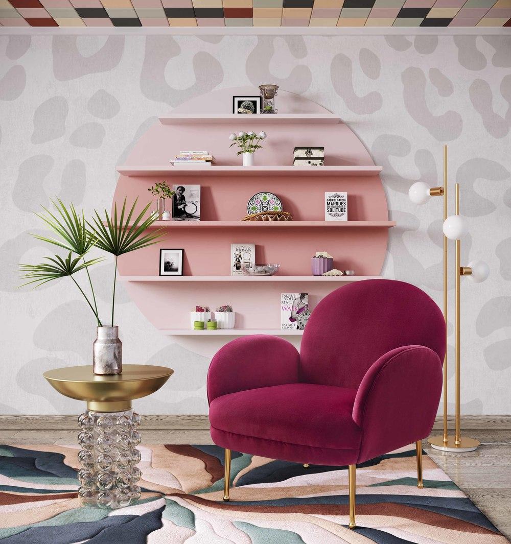 TOV Furniture - Gwen Plum Velvet Chair