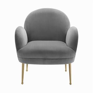 Thumbnail of TOV Furniture - Gwen Grey Velvet Chair