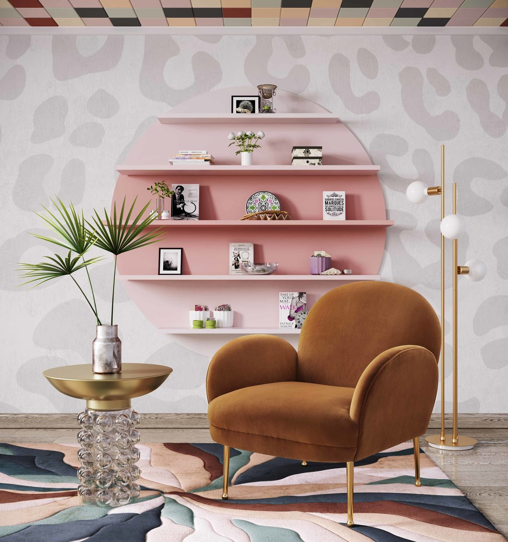 TOV Furniture - Gwen Cognac Velvet Chair