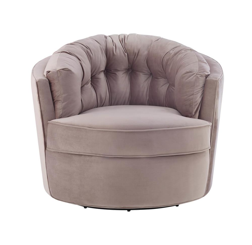 TOV Furniture - Eloise Mauve Velvet Swivel Chair