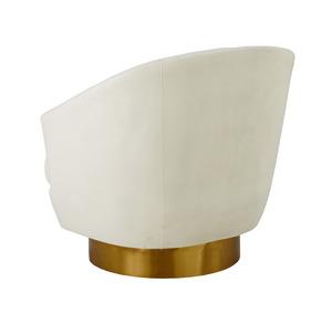 Thumbnail of TOV Furniture - Canyon Cream Velvet Swivel Chair