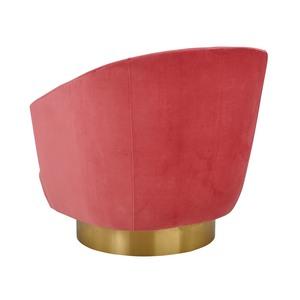 Thumbnail of TOV Furniture - Canyon Hot Pink Velvet Swivel Chair