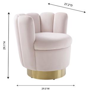 Thumbnail of TOV Furniture - Yad Blush Velvet Swivel Chair