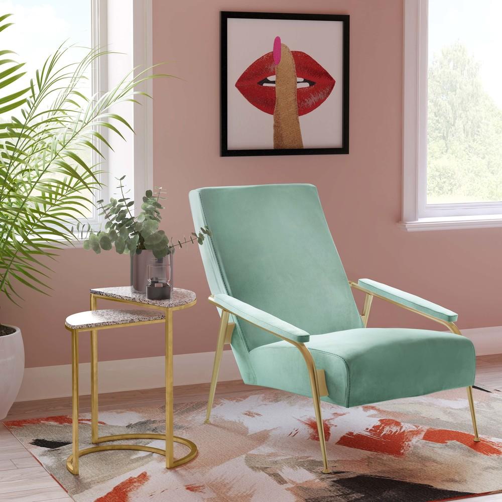TOV Furniture - Abbey Mint Green Velvet Chair