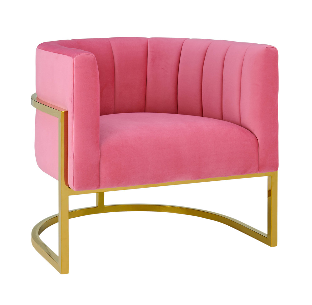 TOV Furniture - Magnolia Rose Pink Velvet Chair