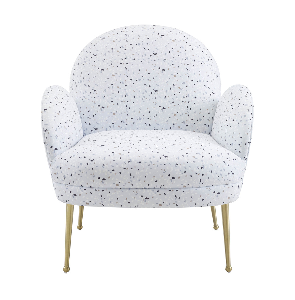 TOV Furniture - Gwen Terrazzo Velvet Chair