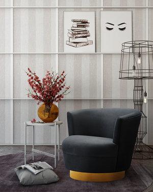 Thumbnail of TOV Furniture - Noah Black Swivel Chair