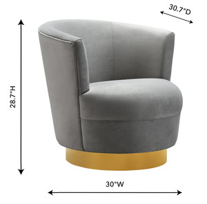 Thumbnail of TOV Furniture - Noah Grey Swivel Chair