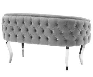Thumbnail of TOV Furniture - Adina Grey Velvet Loveseat