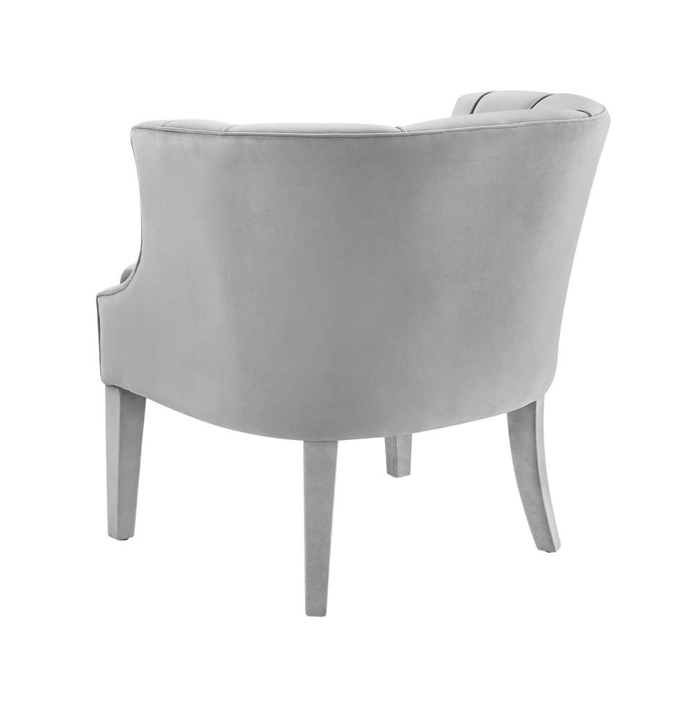 TOV Furniture - Turin Grey Velvet Chair