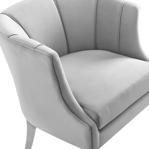 Thumbnail of TOV Furniture - Turin Grey Velvet Chair