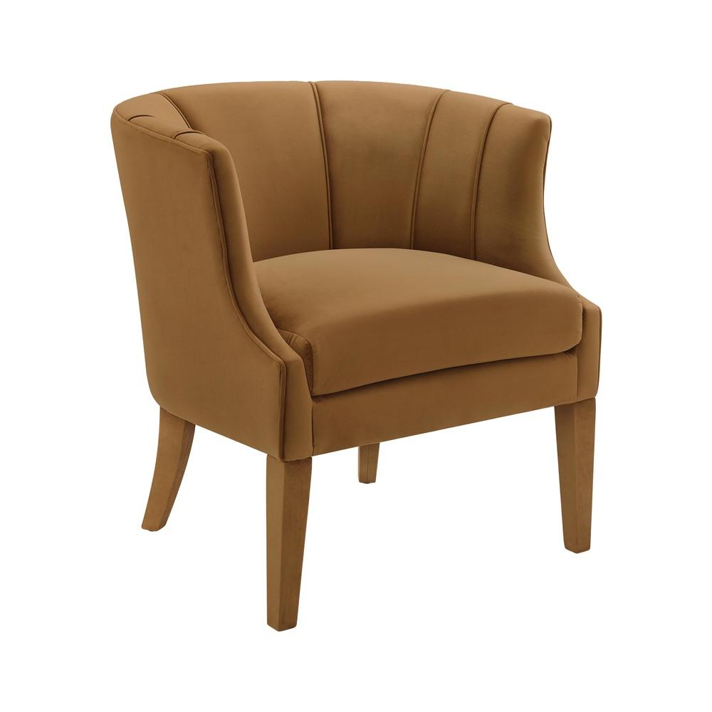 TOV Furniture - Turin Cognac Velvet Chair