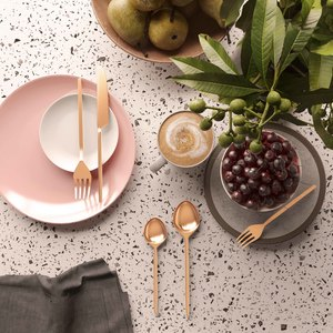 Thumbnail of TOV Furniture - Stainless Steel Rose Gold 20 Piece Flatware Set