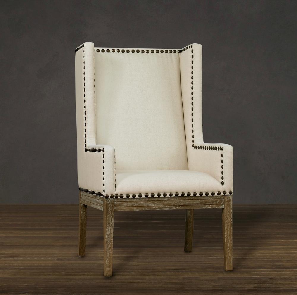 TOV Furniture - Tribeca Beige Linen Chair