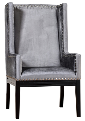 Thumbnail of TOV Furniture - Tribeca Grey Velvet Chair