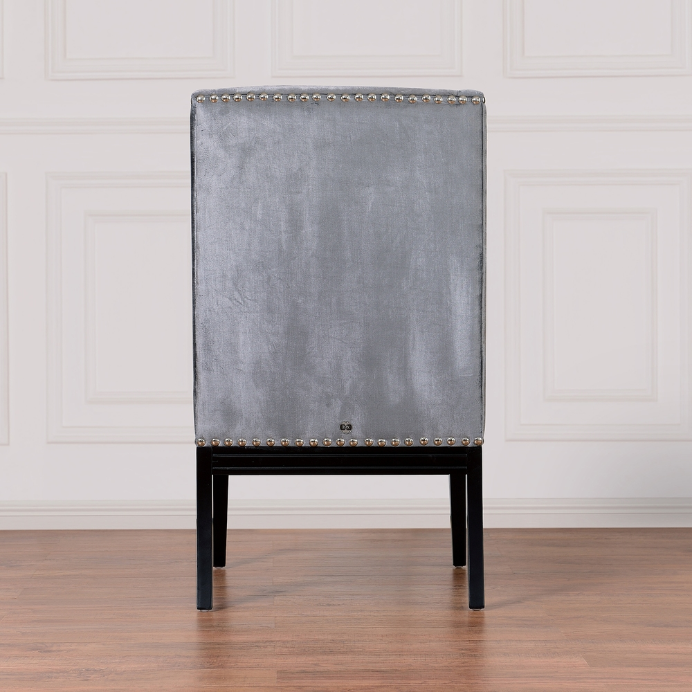 TOV Furniture - Tribeca Grey Velvet Chair