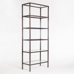 """Thumbnail of Alder & Tweed Furniture - Sawyer 36"""" Bookshelf in Gunmetal Finish"""