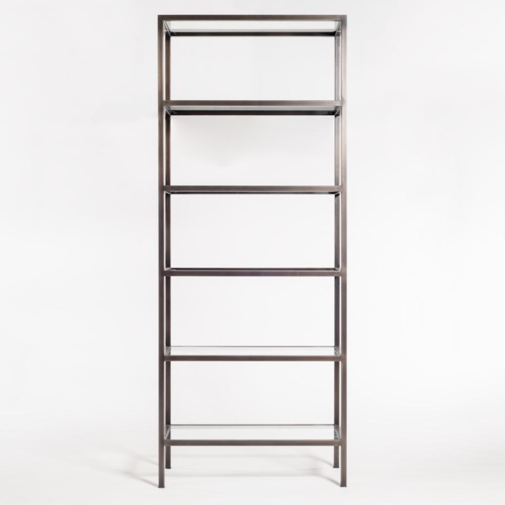 "Alder & Tweed Furniture - Sawyer 36"" Bookshelf in Gunmetal Finish"