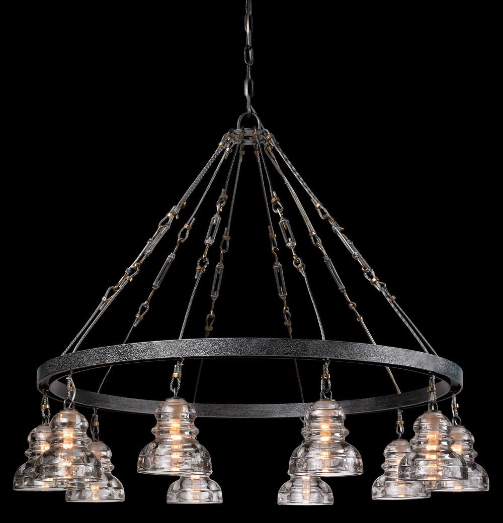 Troy-Corbett - Menlo Park Ten Light Chandelier