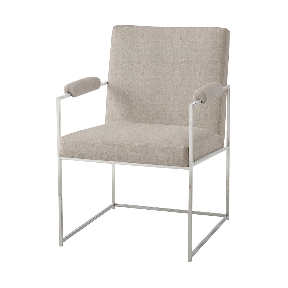 TA Studio-Quick Ship - Wooden Upholstered Arm Chair
