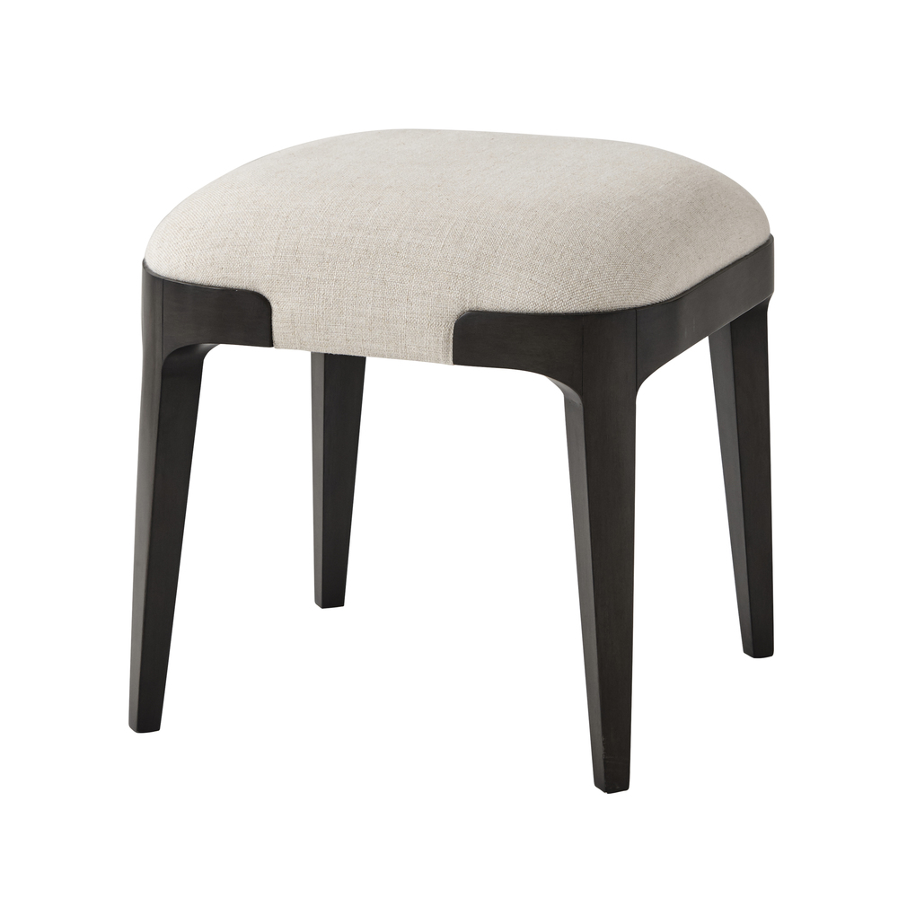TA Studio-Quick Ship - Wooden Upholstered Stool