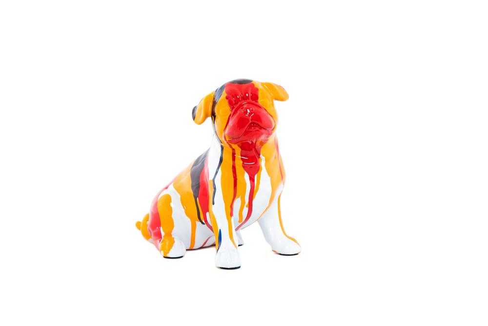 Interior Illusions Plus - Bulldog Sitting Splatter Art Dog