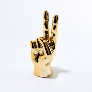 Thumbnail of Interior Illusions Plus - Gold Peace Hand Table Top