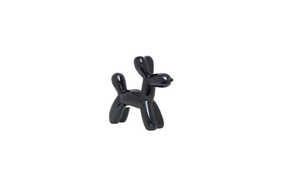 Interior Illusions Plus - Black Mini Balloon Dog Bank