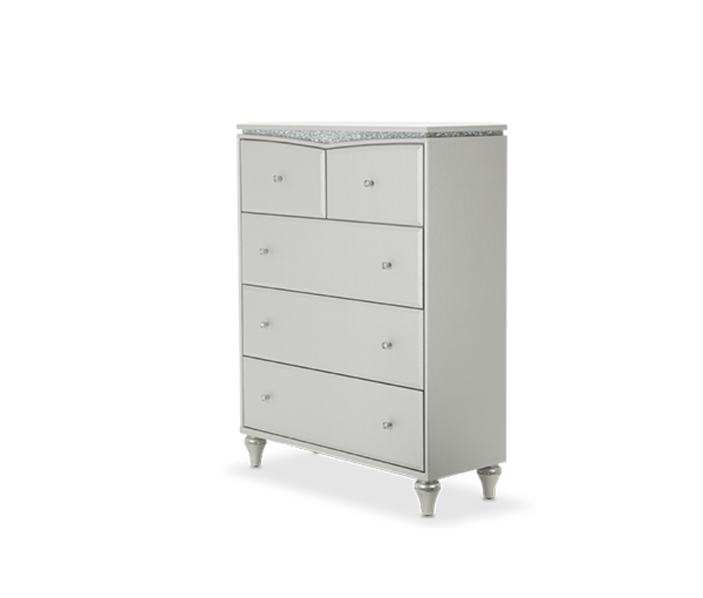 Michael Amini - Upholstered Five Drawer Chest