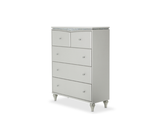 Thumbnail of Michael Amini - Upholstered Five Drawer Chest