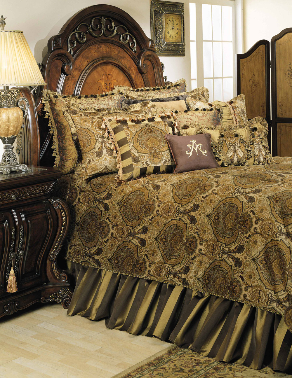 AICO - Pontevedra King Comforter Set, 13 pc