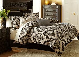 Thumbnail of Michael Amini - Equinox Queen Comforter Set, 9 pc