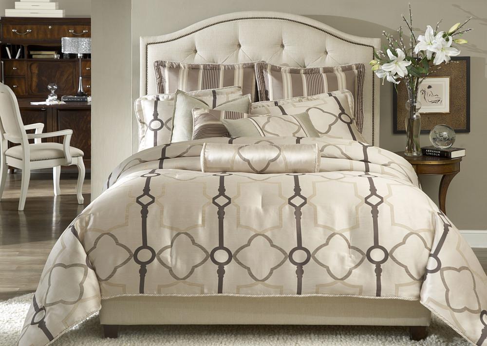Michael Amini - Keystone Court Queen Comforter Set, 9 pc