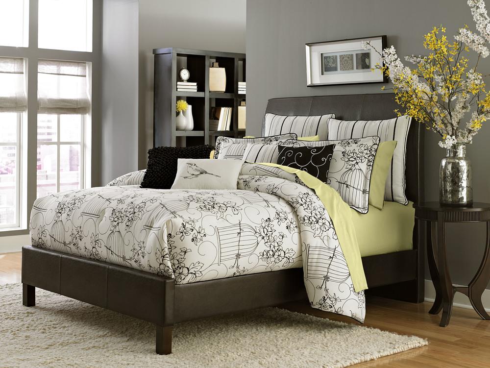Michael Amini - Madison Queen Comforter Set, 9 pc