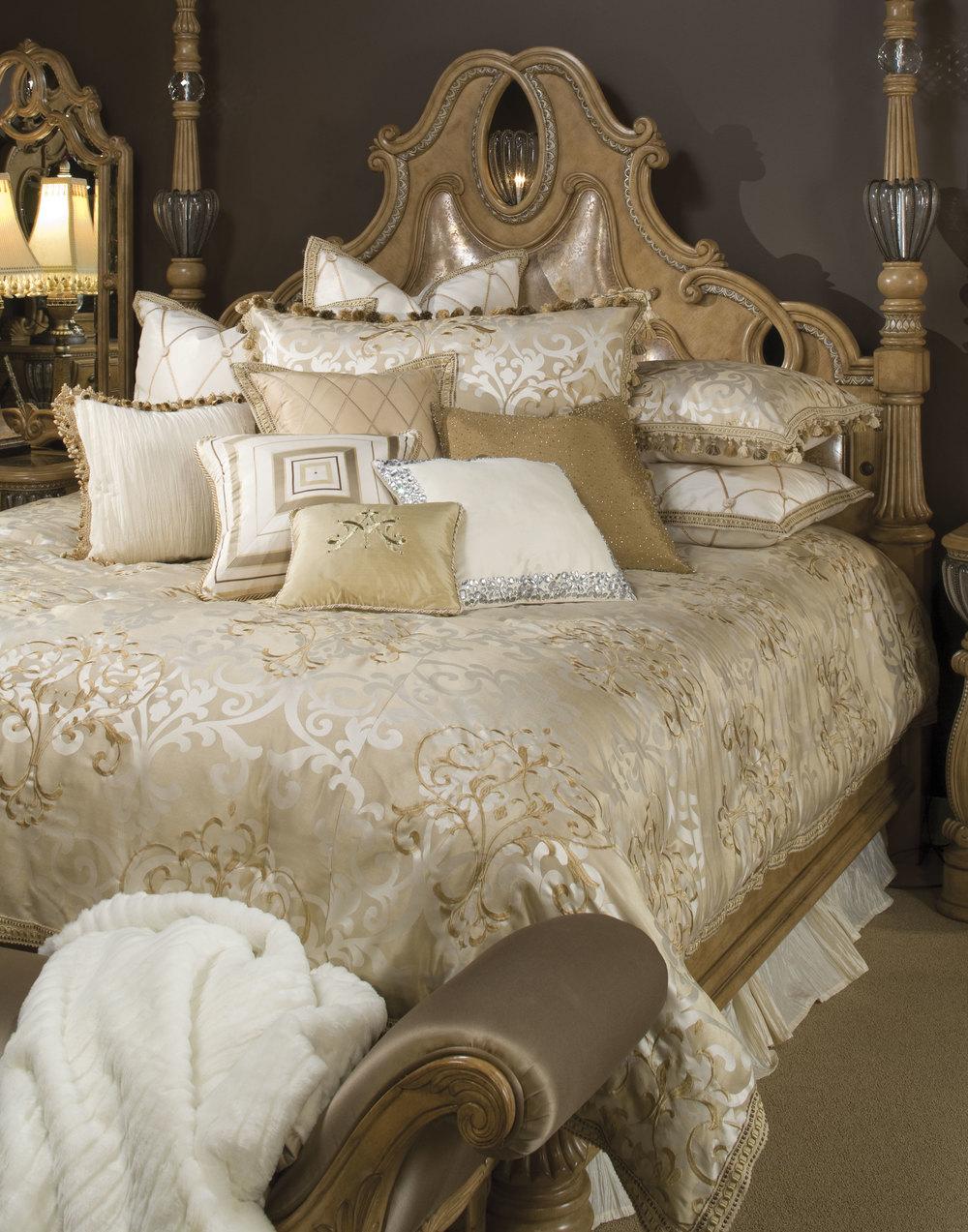 Michael Amini - Luxembourg Queen Comforter Set, 12 pc