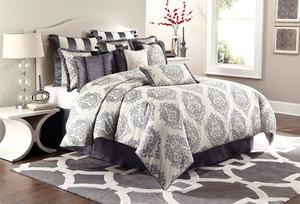 Thumbnail of Michael Amini - Peyton Queen Comforter Set, 12 pc