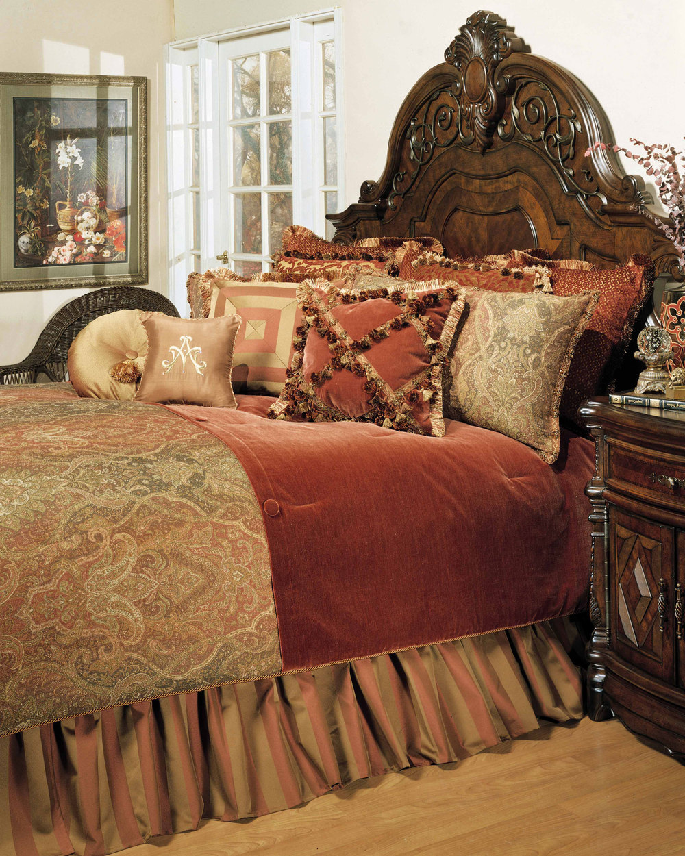 Michael Amini - Woodside Park Queen Comforter Set, 12 pc