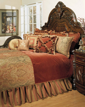 Thumbnail of Michael Amini - Woodside Park Queen Comforter Set, 12 pc