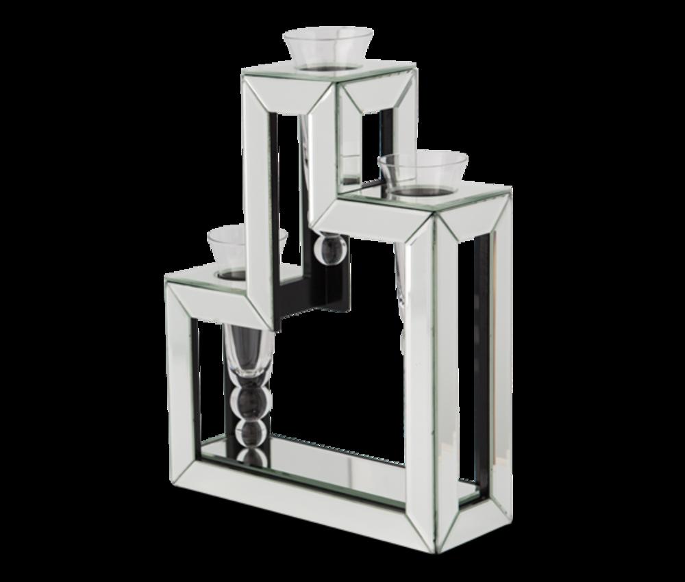 Michael Amini - Three Tier Glass Vase