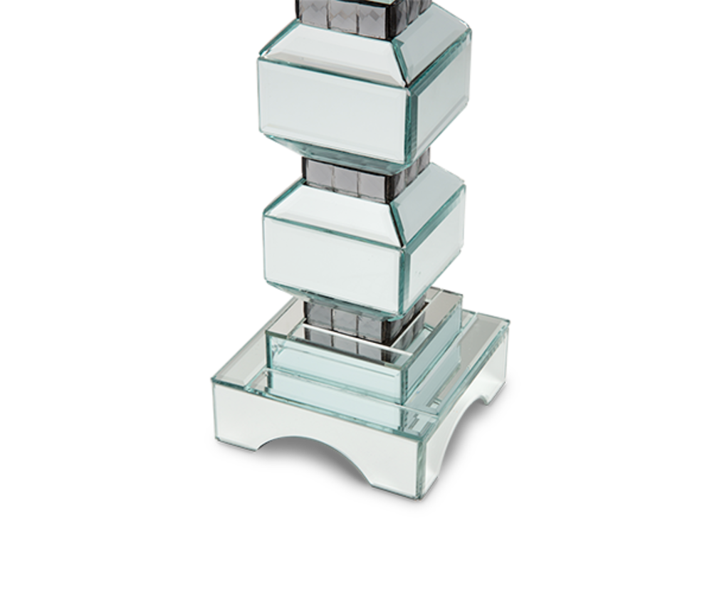 Michael Amini - Two Tier Mirrored Candle Holder, Pack/2