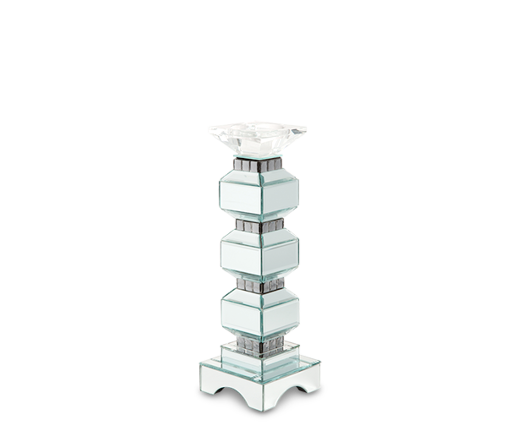 Michael Amini - Three Tier Mirrored Candle Holder, Pack/2