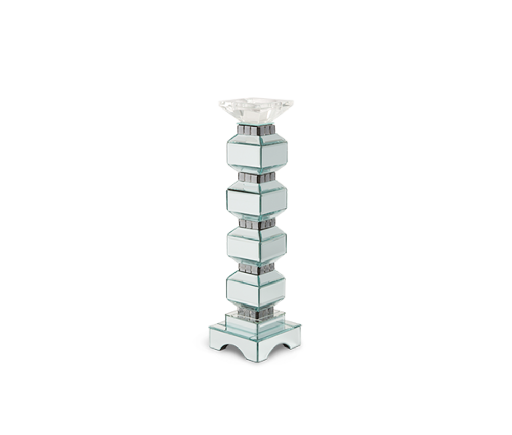Michael Amini - Four Tier Mirrored Candle Holder, Pack/2