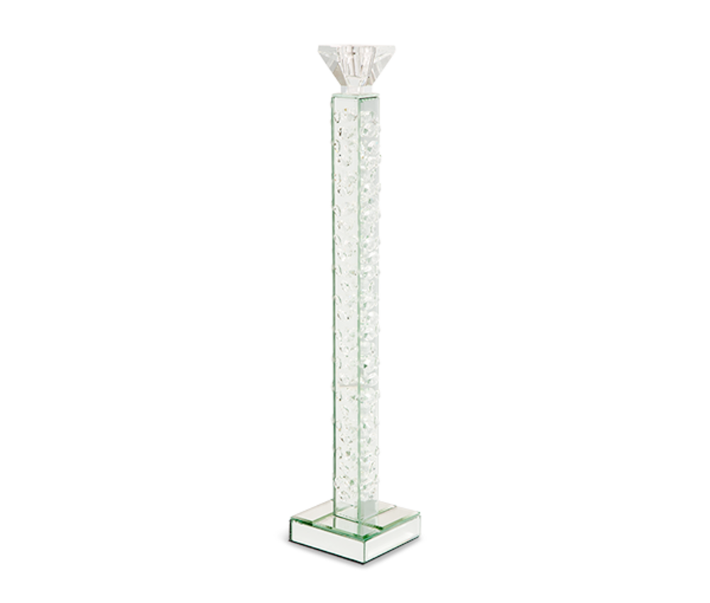 Michael Amini - Slender Mirrored Crystal Candle Holder, Large