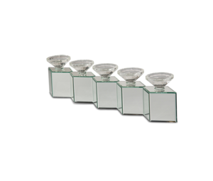 Thumbnail of Michael Amini - Mirrored Cube Linear Candle Holder