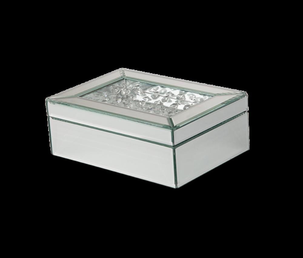 Michael Amini - Mirrored/Crystal Jewelry Box, Pack/4