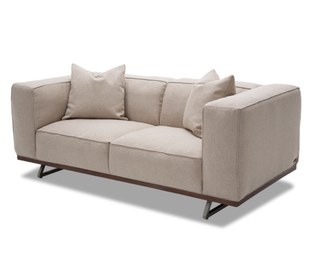Michael Amini - Tempo Loveseat with Wood Base