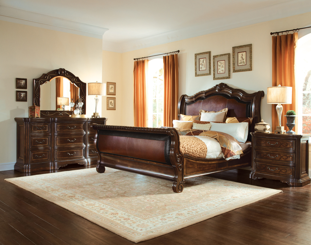 A.R.T. Furniture - King Upholstered Sleigh Bed