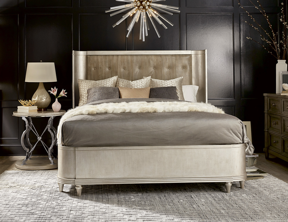 A.R.T. Furniture - California King Upholstered Shelter Bed