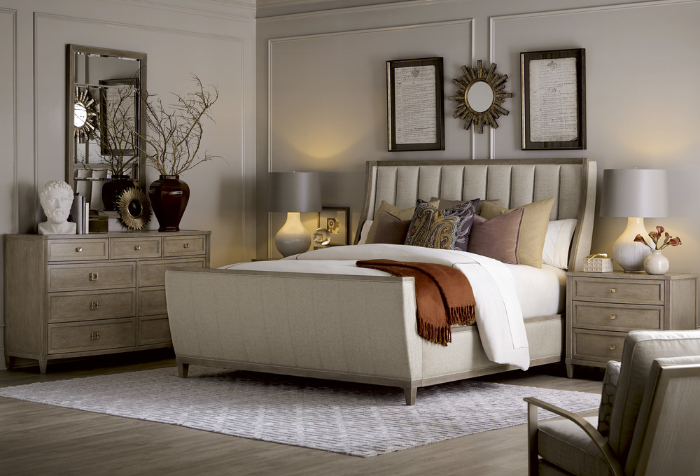 A.R.T. Furniture - Queen Upholstered Shelter Sleigh Bed