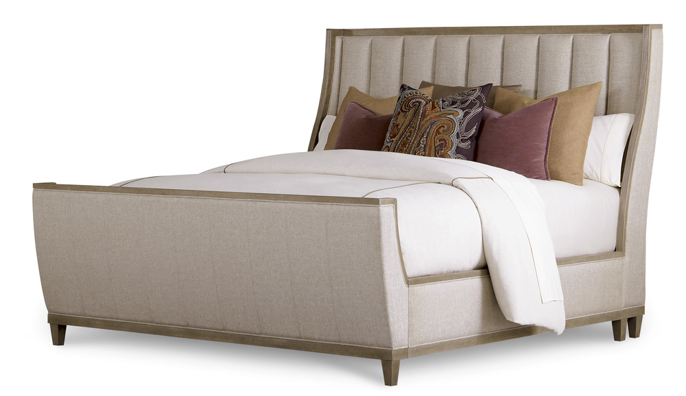 A.R.T. Furniture - King Upholstered Shelter Sleigh Bed